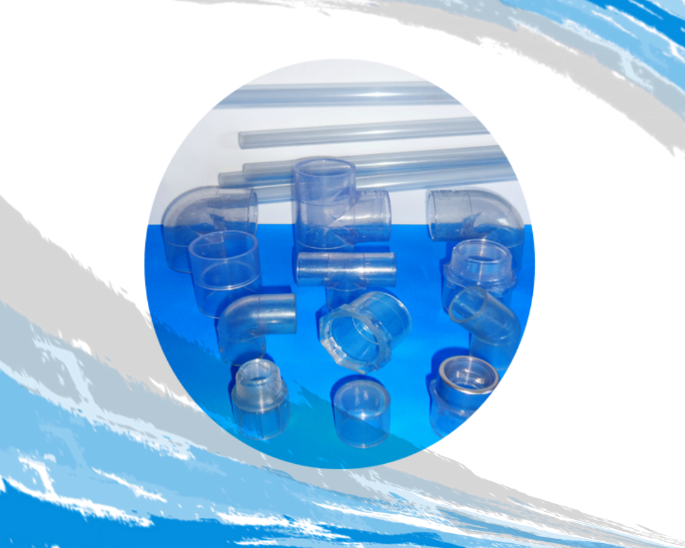 Tubería y Conexión PVC C-40 transparente